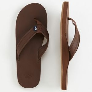 Vineyard Vines Leather Flip Flops - Unisex